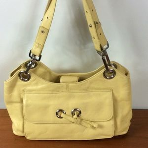 Kate Landry yellow leather bag